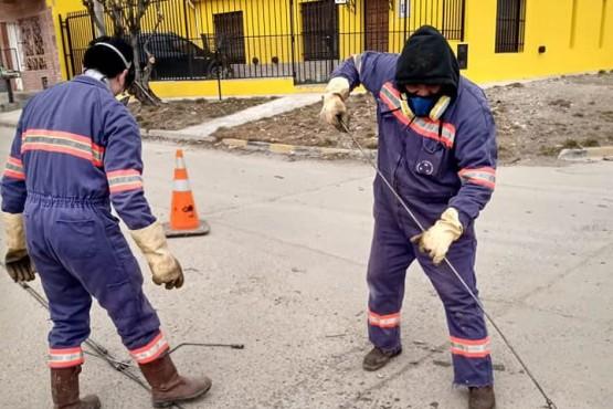 10 Acciones: retiran escombros y limpian calles del Barrio Evita