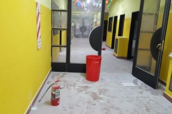 Se produjeron hechos vandálicos en la Escuela Primaria Nº 63