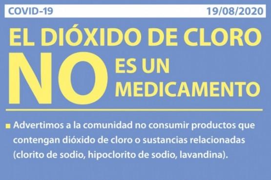 Salud alerta que el dióxido de cloro no es un medicamento y no está autorizado su uso