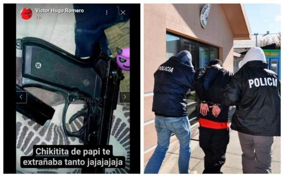 Ex convicto presume en Facebook su arma de fuego