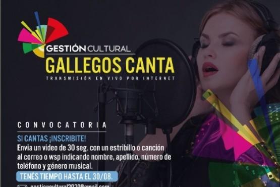 """Hasta el 30 de agosto está abierta la convocatoria para el """"Gallegos Canta"""""""