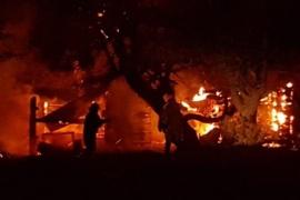 Se produjo un incendio en zona de Mina 4