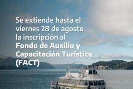 El Gobierno extendió el plazo de inscripción para el Fondo de Auxilio y Capacitación Turística
