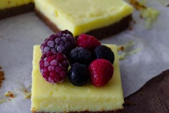 Cómo hacer cuadraditos de limón sin azúcar