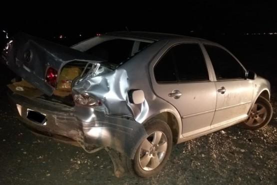 Una señora fue hospitalizada tras fuerte colisión