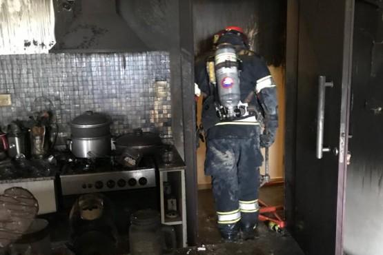 Incendio en un departamento con pérdidas totales