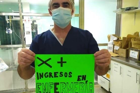 Pedido de recursos humanos de parte de enfermeros de la UTI del Hospital Regional.