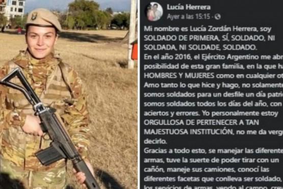 Polémica con la soldado: