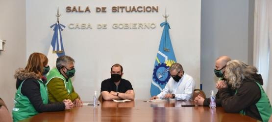 Grazzini y Touriñan recibieron a autoridades de ATE