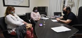 Grazzini recibió a la intendenta de 28 de Julio en Casa de Gobierno