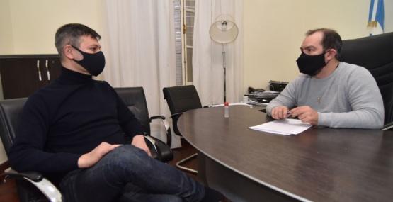Grazzini se reunió con el intendente de Puerto Pirámides