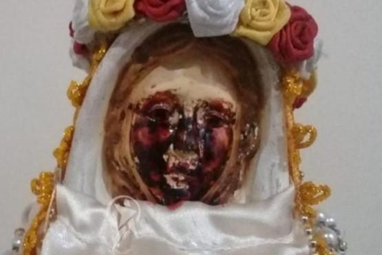 La Virgen del Milagro volvió a llorar lágrimas de sangre