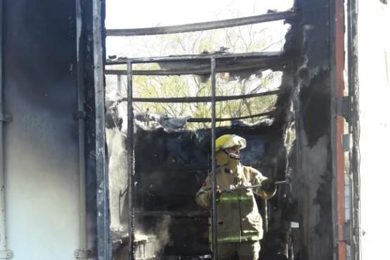 Se incendió una casilla en el puesto Ramón Santos