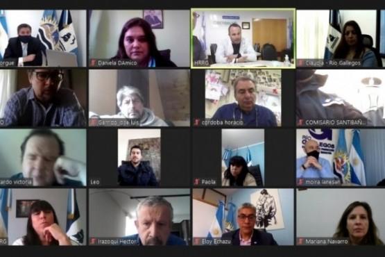 Reunión virtual del COE.