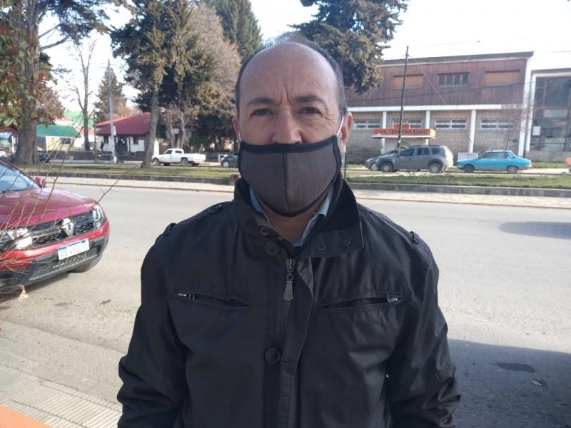 Ricardo Bartolomé, presidente de la Asociación Bomberos Voluntarios de Esquel.