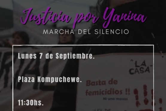 El lunes se llevará a cabo una marcha por Yanina