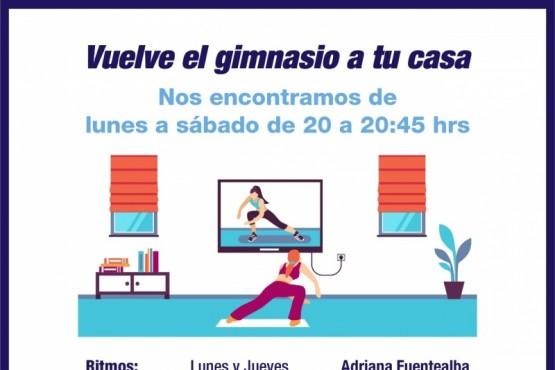 La Municipalidad impulsa el regreso de las clases virtuales de gimnasia