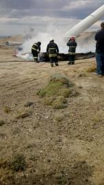 Por un principio de incendio se hizo presente personal policial