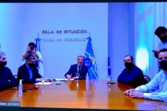 Arcioni firmó con el ENOHSA un convenio para ejecutar obras de saneamiento en 14 localidades