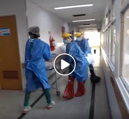 El video que muestra cómo trabaja el personal de salud en el HRRG