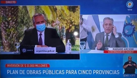 Arcioni participó de una videoconferencia donde el Presidente Alberto Fernández