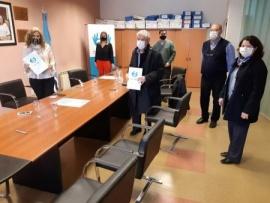 La Caja de Previsión Social firmó convenio con la Asociación de Laboratorios