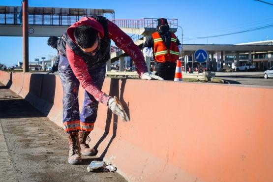 Gran despliegue de trabajadores Municipales en distintos puntos de la ciudad