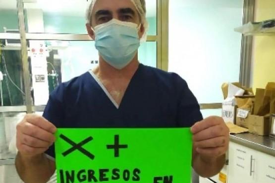 Por la red social los trabajadores de la salud han dado a conocer sus reclamos  durante la pandemia.