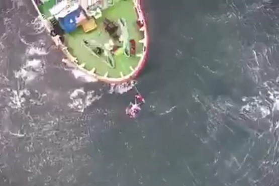 Prefectura aeroevacuó a un tripulante de un buque pesquero