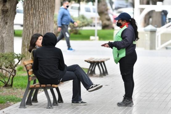 Refuerzan tareas de prevención en espacios públicos de Trelew