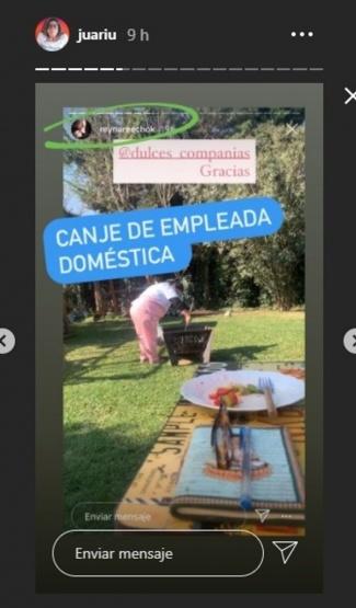Reina Reech agradeció el canje de una empleada doméstica
