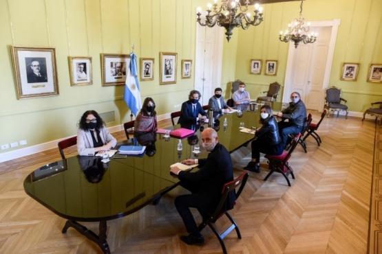 Reunión del Gabinete de Planificación Urbana y Hábitat en Casa Rosada