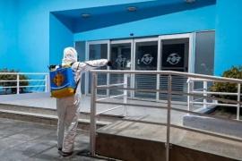 Vialidad Provincial realizó tareas de sanitización en espacios públicos