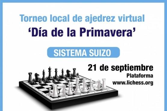 La Municipalidad celebra la Primavera con un  'Torneo local de Ajedrez Virtual'