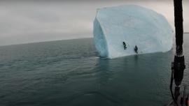 Un iceberg cayó encima de dos exploradores cuando lo escalaban