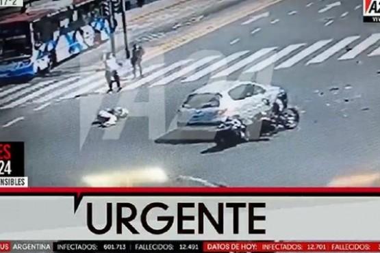 Nacho Viale sufrió un accidente con su moto