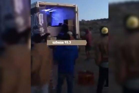 El video de la fiesta en zona de playas es de otra fecha