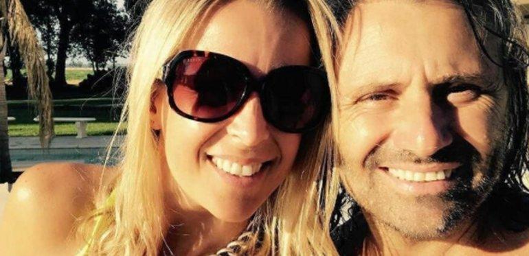 Marcos Di Palma junto a su mujer.