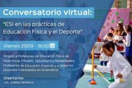 """""""Ciclo de Conversatorios en tiempos de pandemia"""": La ESI en la práctica de la Educación Física y el Deporte"""