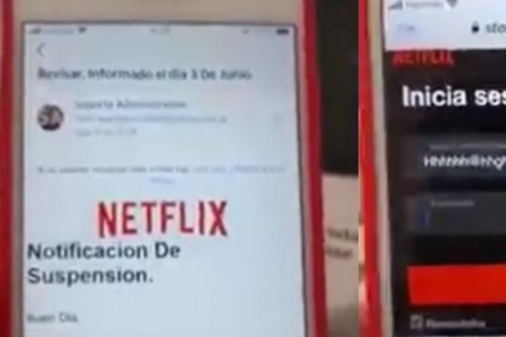 Descubrieron una nueva estafa basada en una falsa notificación de Netflix