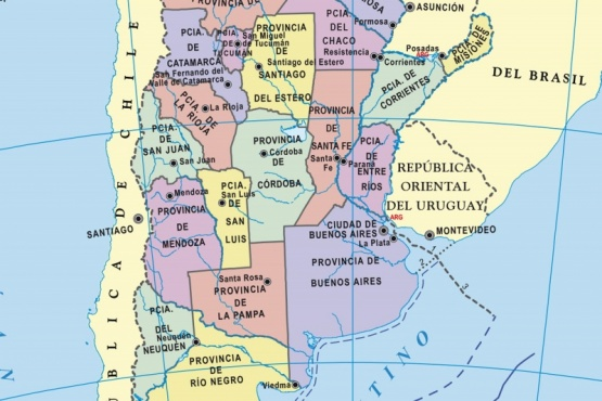 Cómo es el nuevo mapa de Argentina con Tierra del Fuego en el centro
