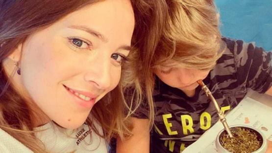 Luisana y su hijo.