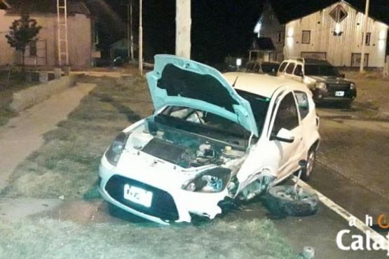 Violenta colisión de un conductor alcoholizado en la madrugada