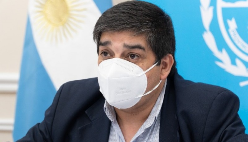 Claudio García, Ministro de Salud.