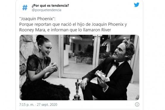 Joaquin Phoenix y Rooney Mara eligieron el nombre River en homenaje al hermano del actor de la película Joker, quien falleció de manera trágica y prematura.