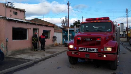 Bomberos acudió a una vivienda por principio de incendio