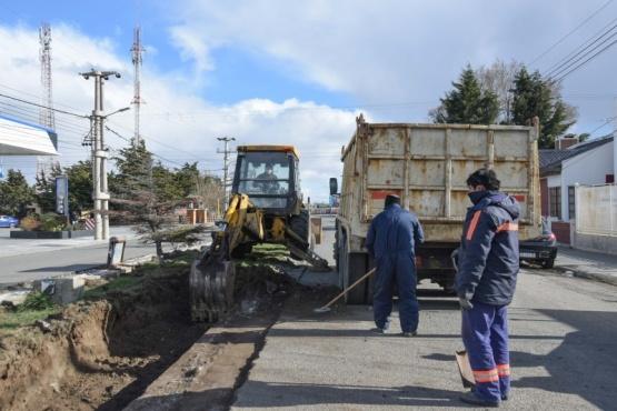 Municipio continúa con las obras de ensanche de la Avenida San Martín