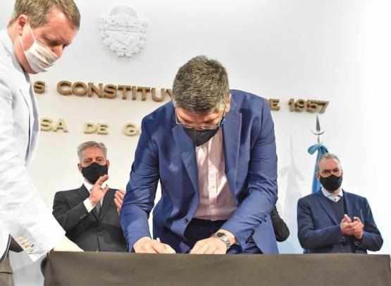 Gabriel Aguilar asumió como nuevo Secretario de Pesca