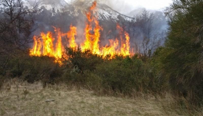 Incendio en complejo habitacional