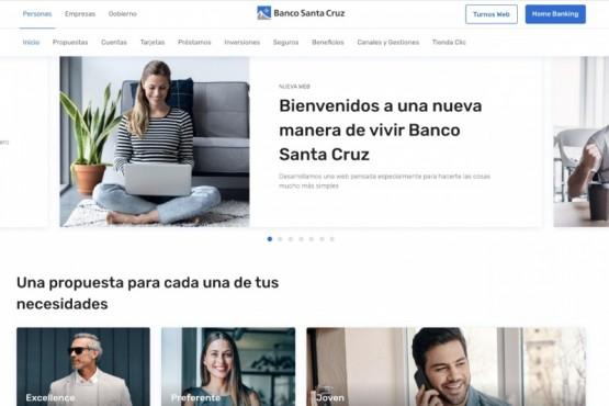 Banco Santa Cruz presentó su nuevo sitio web